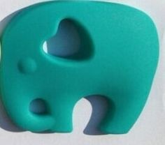 Jade Green Chewable Silicone Elephant Necklace with safety clasp - Brad's Little Aussie Autism Shop lots of colours available
