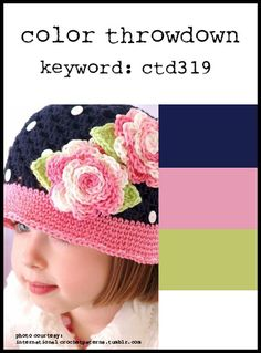 card making challenge: Color Throwdown  #319 ...navy and white with pink and light olive ... great photo inspiration too ...