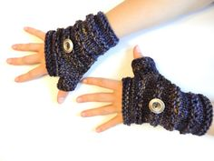 Ashley Fingerless gloves hand warmers Knit by IntricateKnits, $35.00