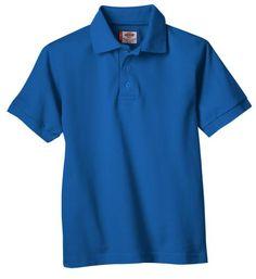 addb3055e427 Dickies Big Boys' Short Sleeve Pique Polo Shirt, Royal Blue, Large Dickies  Clothing