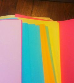 Colored paper is my bread and butter for creating fliers, announcements & sign ups for #supportivehousing activities