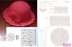 Image gallery – Page 413838653255354599 – Artofit - Slideit.top - Her Crochet Kids Knitting Patterns, Baby Hats Knitting, Knitting Designs, Knitted Hats, Crochet Patterns, Crochet Baby Bonnet, Crochet Cap, Love Crochet, Beautiful Crochet