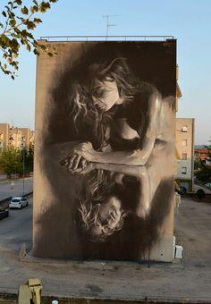 """""""Attraverso lo Specchio"""" Artist: GÔMEZ Location: Civtanova Marche, Italy"""