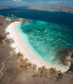Pink Beach Komodo Island is a pink sand beach that's a serious contender for one of the most beautiful beaches in the world. Komodo Island, Pink Sand Beach, Mountain Hiking, Beaches In The World, Most Beautiful Beaches, Snorkeling, Travel Ideas, Waterfall, Explore