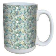 New! Ceramic Coffee mugs featuring art by designer, Shell Rummel ~ available exclusively via Amazon.com