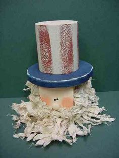 Uncle Sam Blockhead, Patriotic & 4th of July Crafts