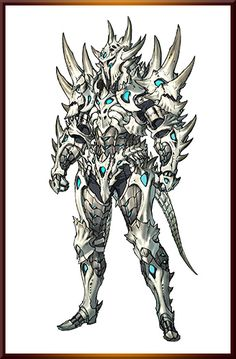 Probably too many spikes to be actually effective, but pretty rad armor ref anyways Dragon Armor, Dragon Knight, Character Concept, Character Art, Character Design, Epic Characters, Fantasy Characters, Armor Concept, Concept Art