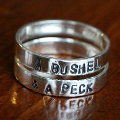 This personalized sterling silver ring looks great worn alone or stacked as layers of two, or three rings. Create a keepsake gift for a grad...
