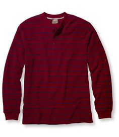 Mini Waffle Henley, Traditional Fit Stripe