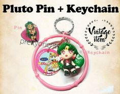 Sailor Moon Sailor Pluto Vintage Enamel Pin & by PrettyOrients