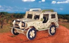 Puzzled Jeep 3D Jigsaw Woodcraft Kit Wooden Puzzle by Puzzled -- Awesome products selected by Anna Churchill
