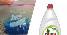 Zamroziła płyn do mycia naczyń w woreczku. Zobacz dlaczego, a zrobisz to samo! Cleaning Supplies, Diy And Crafts, Life Hacks, Soap, Bottle, Cleaning Agent, Flask, Bar Soap, Soaps