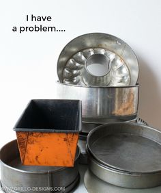 'I collect baking pans, but NOT for baking.' See her brilliant idea