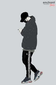 Black Jacket and Trackpants by enchantyeols on FanBook Comic Drawing Styles, People Illustration, Illustration Art, Gas Mask Art, Arte Dc Comics, Street Art Photography, Kpop Drawings, Hypebeast Wallpaper, Art Of Man