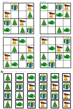 Vánoční sudoku - předškoláci