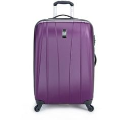 """Delsey Helium Shadow 2.0 25"""" Expandable Spinner Suiter Trolley (130 CAD) ❤ liked on Polyvore featuring home and home improvement"""