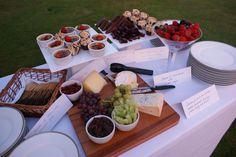 cheese and dessert buffet