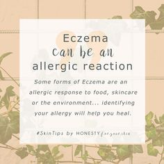 Eczema – there's lots of different types of it. Did you know some forms of eczema are caused because your body is allergic to something and it's acting out? Sometimes it's contact dermatitis aka skincare that's caused dry, itchy, flaky skin sometimes its whole body food intolerances. Click above to learn of Alice's eczema story.