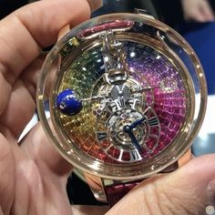 REPOST!!!  The essence of watchmaking with @JACOBANDCO piece unique ASTRONOMIA Rainbow Tourbillon watch that is the ultimate perfection with such a complicated movement and breathtaking invisible set rainbow of sapphires! #WatchWednesday #WatChapter #WatchesofInstagram #Watch #Timepiece #JacobandCo #Astronomia #Tourbillon #CDxJacob #CDxBaselWorld2017 #BaselWorld2017 #BaselWorld #Luxury #ChampagneGemDiaries #ChampagneGemGoesToBasel #ChampagneGem #YourDailyDoseOfSparkle…