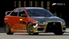 Golden MIT Lancer EVO - Prague