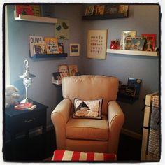 I like the reading corner idea!