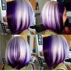 HairSpotting: TOP hairstyles to fall in love with! HairSpotting: TOP hairstyles to fall in love with Top Hairstyles, Pretty Hairstyles, Purple Hair, Ombre Hair, Purple Bob, Purple Ombre, Dark Purple, Plum Hair, Ombre Bob
