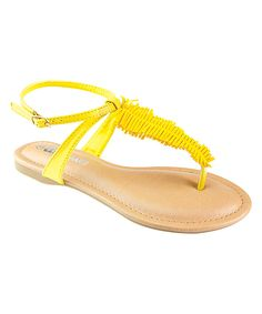Anna Shoes Yellow Silvia Sandal on zulily
