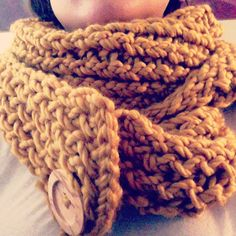 Just finished knitting a scarf. Sew a button at the end to make it an Infiniti scarf by choice.