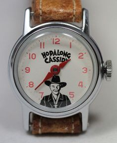 1950 Hopalong Cassidy Wrist Watch in Original Display Box: Removed Artist Film, Old Watches, Display Boxes, Vintage Toys, Happy Trails, The Originals, Wild West, Cowboys, Clocks