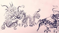 """This is """"Drawing Chinese Dragons"""" by Rachel Wintemberg on Vimeo, the home for high quality videos and the people who love them. Chinese Dragon, Art Lessons, Dragons, Japanese, Watercolor, Ink, Color Art Lessons, Pen And Wash, Watercolor Painting"""