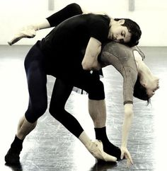 .The hard work of ballet
