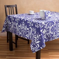 Vintage Royalty Rectangular Cotton Tablecloth