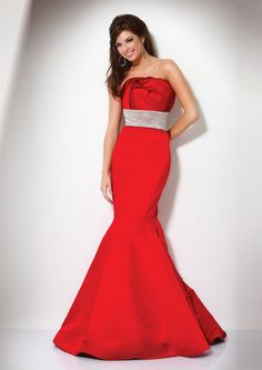 Have them all seeing red when you enter prom 2011 in this red mermaid dress.