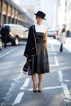 Miroslava Duma at Ralph Lauren #streetstyle #fashion #miroslavaduma on http://www.gastrochic.com