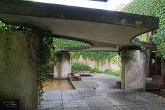 The sculpture garden in the central pavilion of the Biennale in Giardini is designed by the Venetian architect Carlo Scarpa.