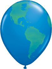 Globe Dark Blue Latex Round 16in 40cm