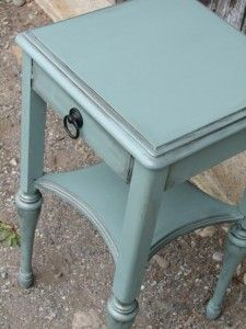 Sage Green Night Stand by FunCycled   www.FunCycled.com