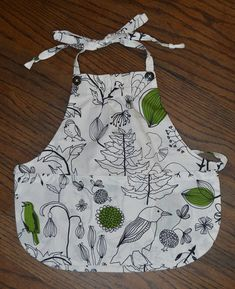 White cotton birdie print with black and green Toddler baby