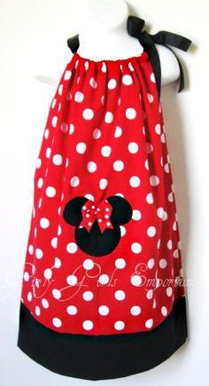 Minnie Mouse Pillowcase Dress 4t 5t 6 7 8 9 by GirlyGirlsEmporium, $33.00