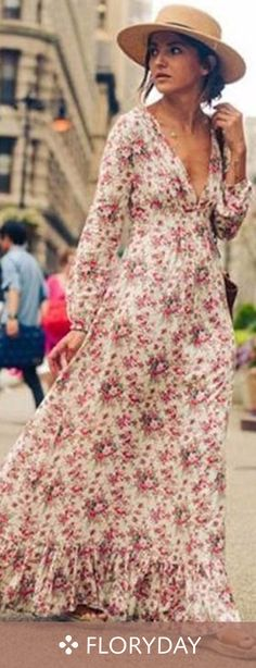 Adorable Boho-Chic Style Inspirations and Outfit Ideas - Trend To Wear Boho Chic, Bohemian Style, Boho Hippie, Bohemian Outfit, Romantic Outfit, Gypsy Style, Casual Chic, Trendy Dresses, Casual Dresses