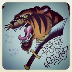 Classic Cool Tiger design by Paul Nycz.    I want this but with cake instead of glory and the tiger wearing a cupcake top hat.