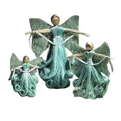 Abaca Angels Set of Three  Fair Trade Hand Made -- Check out the image by visiting the link.