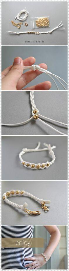 Diy Jewelry Ideas : Beaded braided bracelet -Read More – Macrame Jewelry, Macrame Bracelets, Diy Jewelry, Jewelery, Jewelry Bracelets, Jewelry Accessories, Handmade Jewelry, Jewelry Design, Jewelry Making
