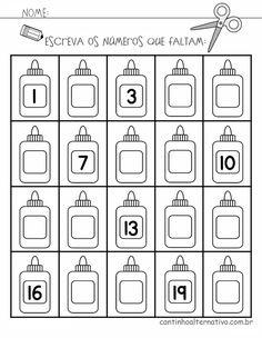 Atividades de Alfabetização Matemática para Imprimir - Blog Cantinho Alternativo