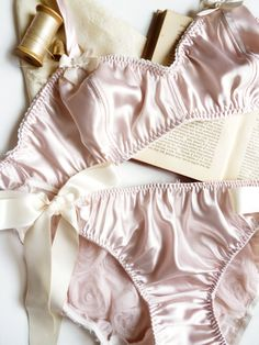 Ballet Pink Satin Soft Bra Made to Order by ohhhlulu on Etsy, $60.00