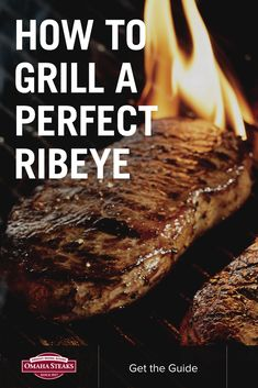 How to grill the perfect ribeye steak in just five simple steps on a gas or charcoal grill. Cook juicy, medium-rare steaks (or your desired doneness and temperature) with our simple video tutorial. Top with our smoky bacon butter recipe for an unforgettable Omaha Steaks steak dinner.