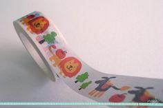 Lion Washi Tape / Masking Tape  15m donkey and by GoodiMochi, $3.20