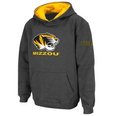 Missouri Tigers Stadium Athletic Youth Big Logo Pullover Hoodie - Charcoal - $24.99
