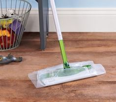Wax paper on a sweeper- I'm gonna try this!!!
