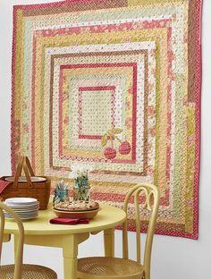 Whip up an oh-so-sweet wall hanging showcasing a pair of cherry appliqués and a bushel of borders made from precut floral strips.